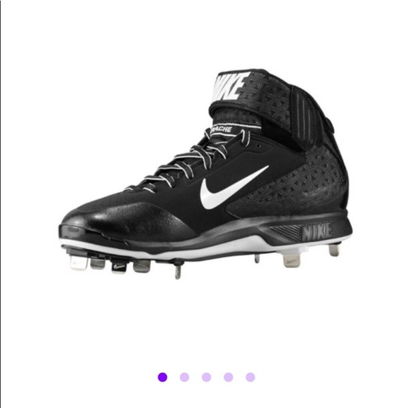 online retailer f97d3 18c21 Nike huarache pro mid metal baseball cleats NWT